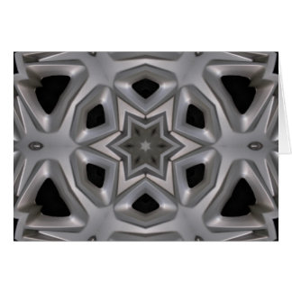 Abstract wheel cover kaleidoscope card