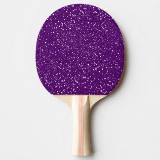 Abstract White Confetti Dots on Purple Sport