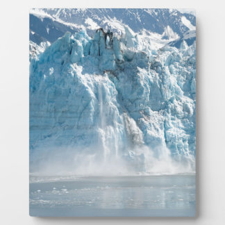 Abstract white ice Alaska mountains Plaque