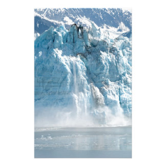 Abstract white ice Alaska mountains Stationery