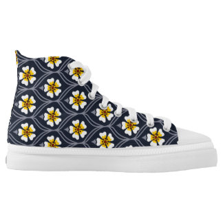 abstract white yellow flower background nature pat high tops