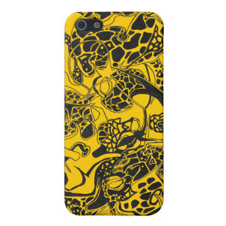 abstract wild animals and flowers Case iPhone 5 Cover