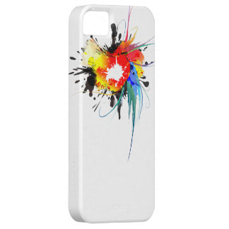 Abstract Wild Parrot Paint Splatters Case For The iPhone 5