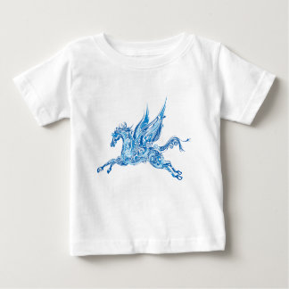 Abstract Winged Horse Baby T-Shirt