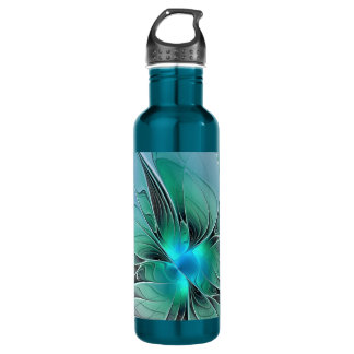 Abstract With Blue, Modern Fractal Art 710 Ml Water Bottle
