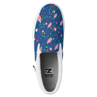 Abstract with butterflies printed shoes