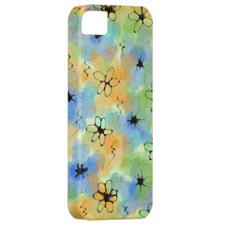 abstract with flowers iPhone 5 cases