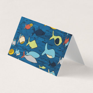 Abstract With Tropical Fish Card