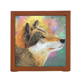 Abstract Wolf Desk Organisers