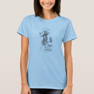 Abstract Woman artwork t-shirt, light blue T-Shirt