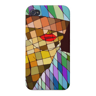 abstract woman case for iPhone 4