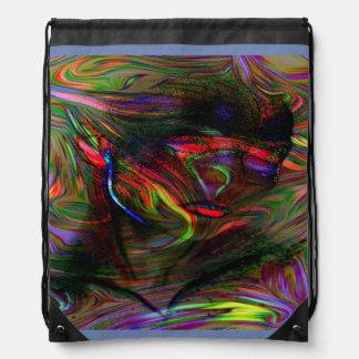 Abstract Woman Two Drawstring Bag