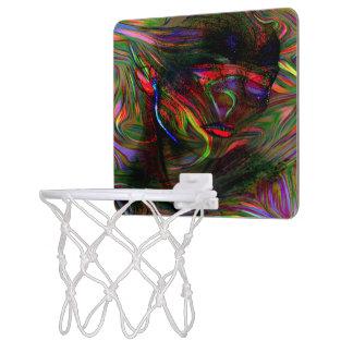 Abstract Woman Two Mini Basketball Hoop