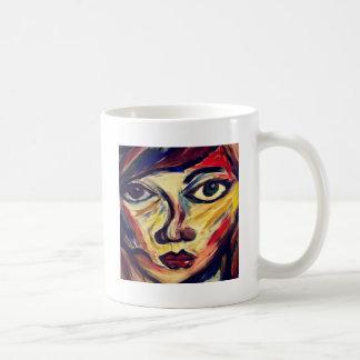 Abstract woman's face coffee mug