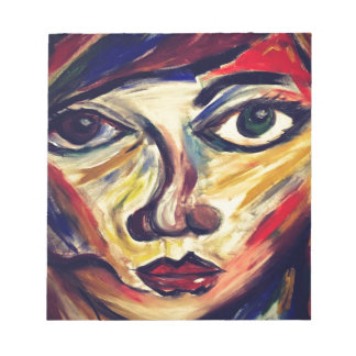 Abstract woman's face notepad