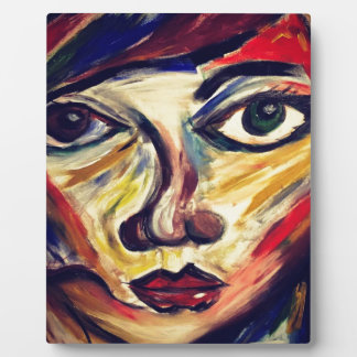 Abstract woman's face plaque