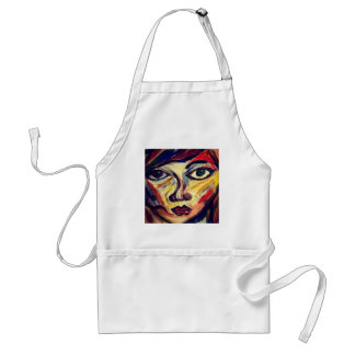 Abstract woman's face standard apron