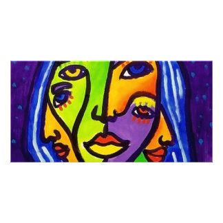 Abstract Women J 3 by Piliero Photo Cards