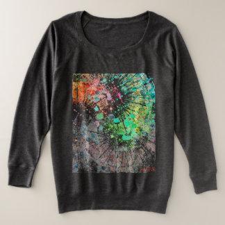 Abstract Women's Long Sleeve Shirt