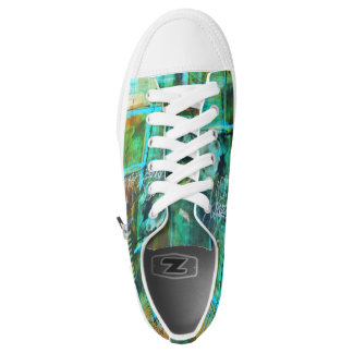 Abstract Womens Low Top Tennis Shoes - The Patina Printed Shoes
