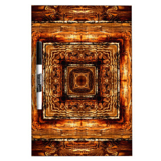 Abstract Wood Grain Texture Dry Erase Board