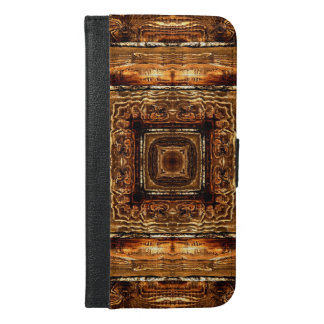Abstract Wood Grain Texture iPhone 6/6s Plus Wallet Case