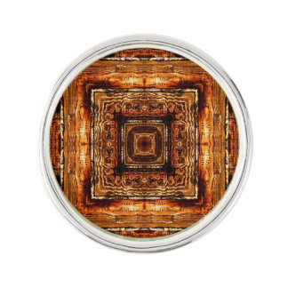 Abstract Wood Grain Texture Lapel Pin