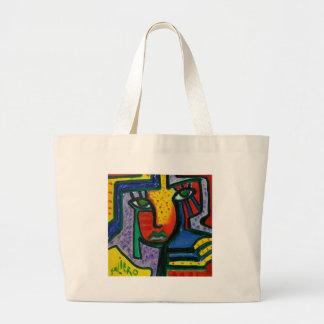 Abstract Wood painting Jumbo Tote Bag