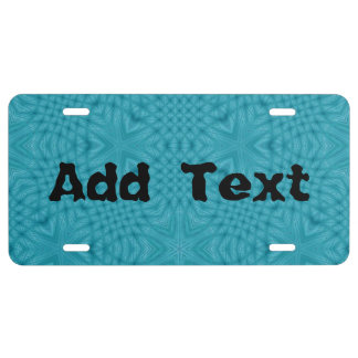 Abstract Wood Pattern License Plate