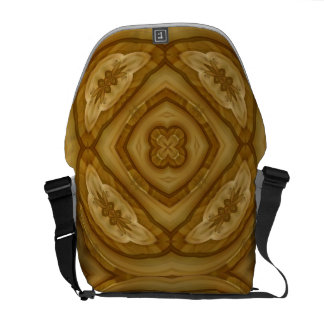 Abstract wood pattern courier bag