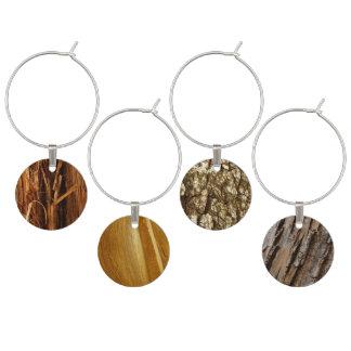 Abstract Wooden Photos (Cedar, Pine, Tree Bark) Wine Charm