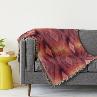 Abstract Woodwork Throw Blanket