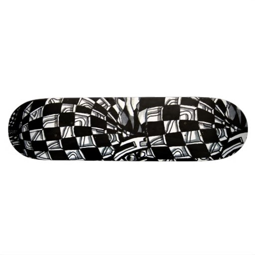 Abstract Worlds Skateboard