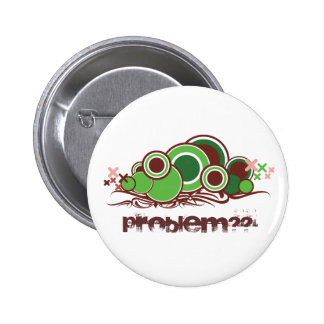 Abstract Worm Illustration 6 Cm Round Badge
