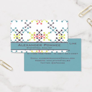Abstract X shapes with Round Ends Multi-Color Business Card