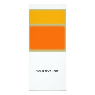 Abstract Yellow and Orange Invite