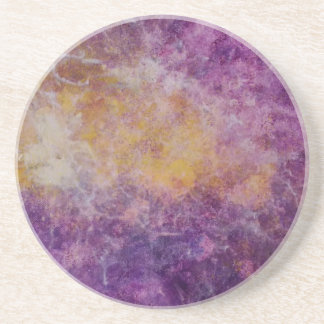 Abstract Yellow and Purple cloud, colourful design Coaster