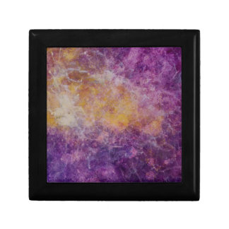 Abstract Yellow and Purple cloud, colourful design Gift Box