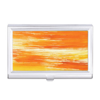 Abstract yellow background from watercolor business card holders