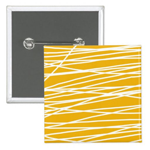 Abstract yellow pinback buttons
