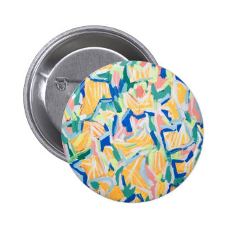 Abstract Yellow Morning Glories abstract flowers Button
