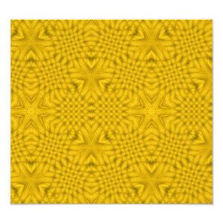 Abstract Yellow Pattern Photo Art