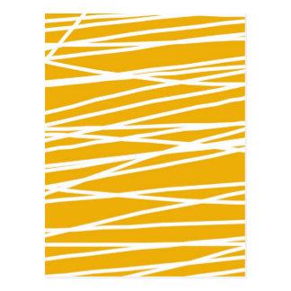 Abstract yellow postcard