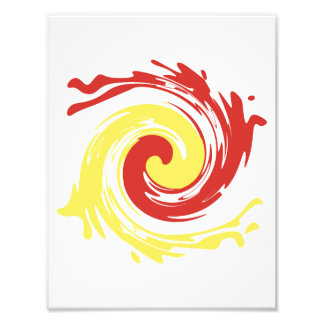 Abstract Yellow Red Swirl Photographic Print