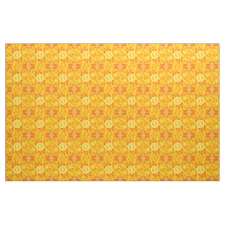 Abstract Yellow Roses Kaleidoscope Fabric
