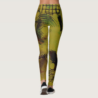 Abstract Yellow Spiral Leggings! Leggings