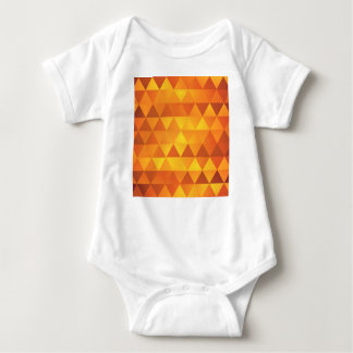 Abstract Yellow Triangles Baby Bodysuit