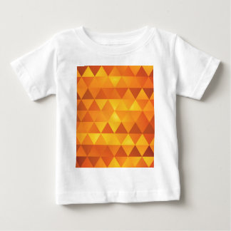 Abstract Yellow Triangles Baby T-Shirt