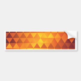 Abstract Yellow Triangles Bumper Sticker