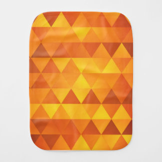 Abstract Yellow Triangles Burp Cloth